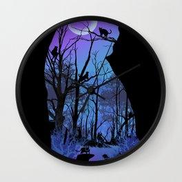 CAT MOON Wall Clock