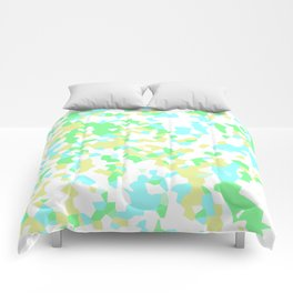 Blue, Yellow, and Green Mosaic Comforters