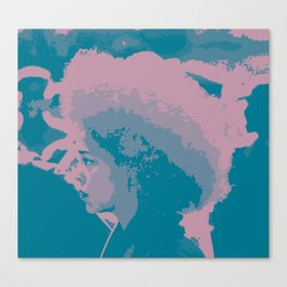 Afro Chic Mauve Teal Canvas Print
