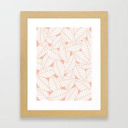 Leaves in Creamsicle Framed Art Print