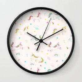 Cute unicorn pattern Wall Clock
