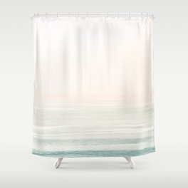 Washed Out Ocean Waves // California Beach Surf Horizon Summer Sunrise Abstract Photograph Vibes Shower Curtain