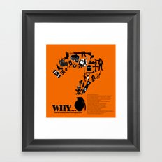 I am asking Why? Framed Art Print