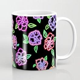 Neon Flowers Print Coffee Mug