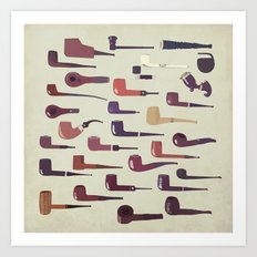 A pipe for every man Art Print