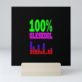 100% oldskool music logo Mini Art Print