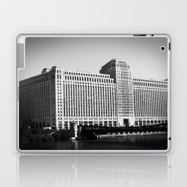 Black and White Merchandise Mart Chicago Photography Laptop & iPad Skin