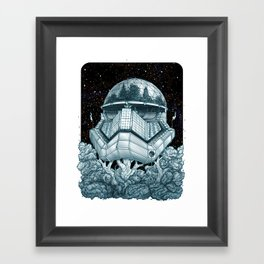 Stormtrooper Treehouse Framed Art Print