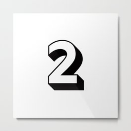 Lucky Number Two ... 2 Metal Print