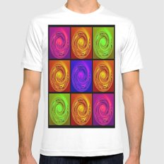 Abstract Collage Art MEDIUM White Mens Fitted Tee