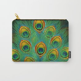 Peacock feather Carry-All Pouch