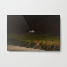 House on the Cliff Metal Print