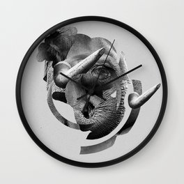 / skin / elephant Wall Clock