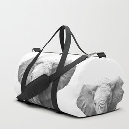 Black and White Baby Elephant Duffle Bag