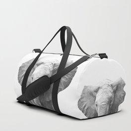 Black and White Baby Elephant Duffle Bag