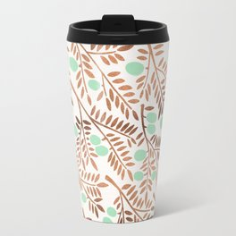 Olive Branches – Rose Gold & Mint Travel Mug