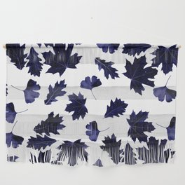 Indigo Blue Sun-Dyed Leaves Wall Hanging