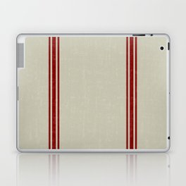 Vintage French Country Grainsack Berry on Linen for Twin and XL Twin bedding Laptop & iPad Skin
