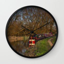Living On The Kennet and Avon Canal Wall Clock