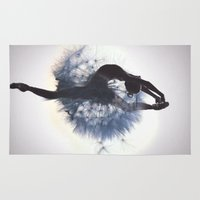 dancer Area & Throw Rugs featuring Dancer by Judy Hung