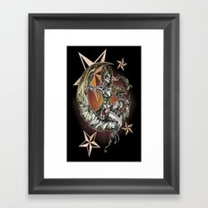 Champagne Of The Dead Variant Framed Art Print