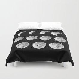 lunar phases of sleep Duvet Cover