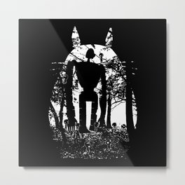 Miyazaki Forest Metal Print