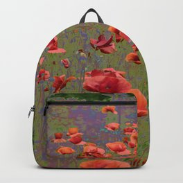 Poppy Garden Abstract Backpack