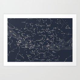 Carte du Ciel I Art Print