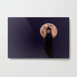 Blue Moon through North Tower Metal Print