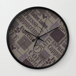 Love coffee 3 Wall Clock