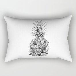 Pineapple Flowers Rectangular Pillow