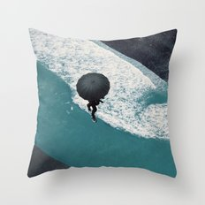 road of sea Throw Pillow