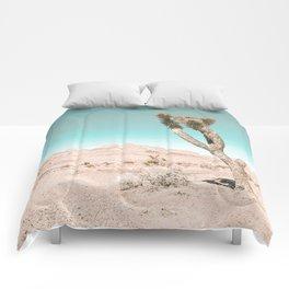Vintage Desert Scape // Cactus Nature Summer Sun Landscape Photography Comforters