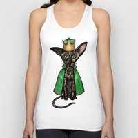 matisse Tank Tops featuring Queen Matisse the Oriental Shorthair by Studio 8107