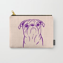 Pug (Peach and Purple) Carry-All Pouch