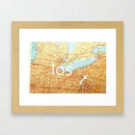 The Lost T Framed Art Print