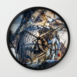 End of January Ruffed Grouse Wall Clock