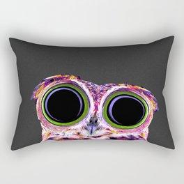 Electric Owl Rectangular Pillow
