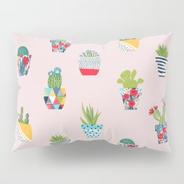 Funny cacti illustration Pillow Sham