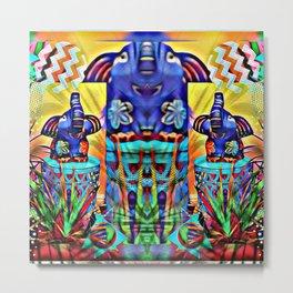 Elephants Dreaming in Color  Metal Print