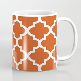 Arabesque Architecture Pattern In Burned Orange Coffee Mug