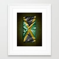 jamaica Framed Art Prints featuring Jamaica flag by DesignAstur
