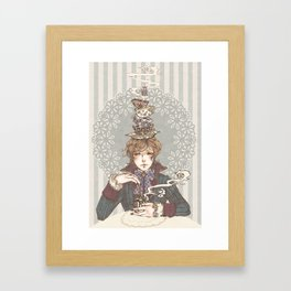 Tea Time, lad. Framed Art Print