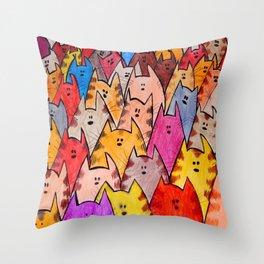 Cats02 Throw Pillow