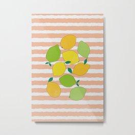 Citrus Crowd Metal Print