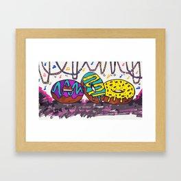 Mardi Gras Donuts Framed Art Print
