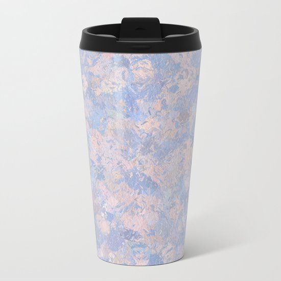 Rose Quartz and Serenity Blue 4644 Metal Travel Mug