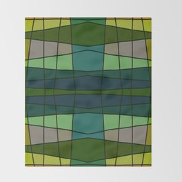 Green Pattern Turtle Throw Blanket