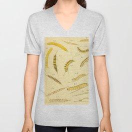 Yellow Caterpillars Unisex V-Neck